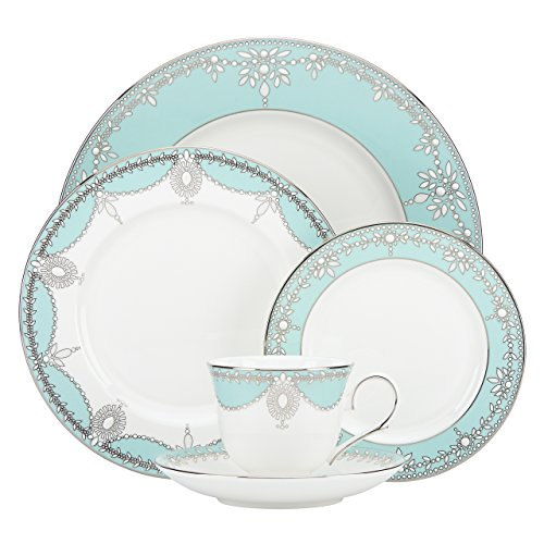 Lenox Marchesa Empire Pearl Geschirr-Set, Türkis, 5-teilig Casuals China Pearl