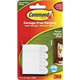 3M Picture Hanging Strips White Small 4 Sets per Pack (17202-ALT)