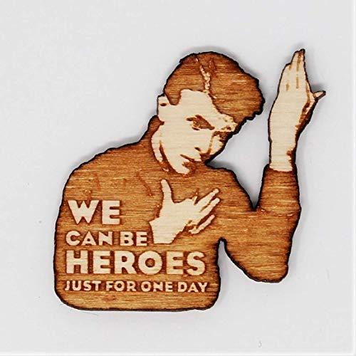 Telestic Design Helden Tribut Pin | Wir können Helden Hand Made Laser-Cut Holz Brosche Be -