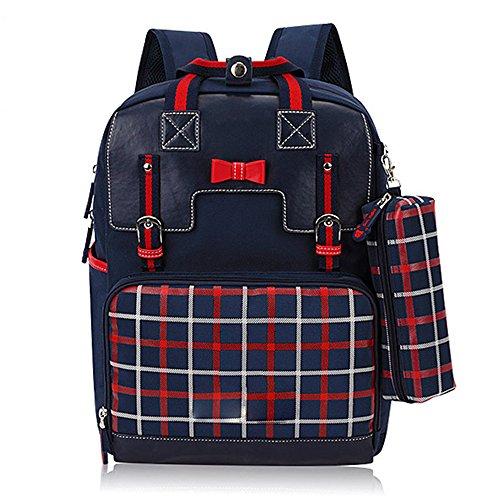 BOZEVON Jungen Mädchen Wasserdichte Rucksack für Kinder Unisex Schulrucksäcke Rucksack für Reisen, Wandern KönigsBlau