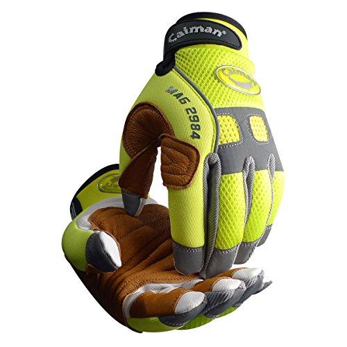 Kaimane 2984–5bergführern & Seil Handhabung Handschuh mit Ziegenleder Palm & Pig Getreide Reinforcement Layer, groß (Seil-handschuhe)