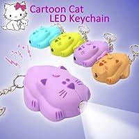 BYSUN Sound Creative Cartoon Cat LED Portachiavi