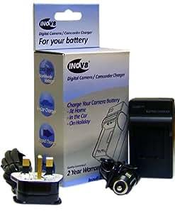 Inov101 batterie de rechange pour appareil numérique et kit de chargement pour Panasonic CGR-S101A/DMW-BC7 (Import Royaume Uni)