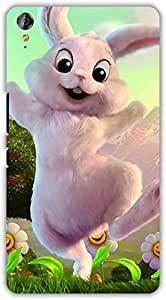 Crazy Beta Cute dancing rabbit design Printed mobile back cover case for Micromax Canvas Juice 3 Q394
