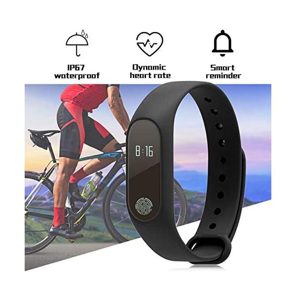 Profesional 0.42 Inch Touch Scrren Style Impermeable Fitness Activity Tracker Reloj Inteligente Pulsera (Negro… 3