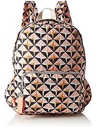 Oilily - Enjoy Geometrical Backpack Lvf, Bolsos mochila Mujer, Rosa (Rose), 13x40x30 cm (B x H T)