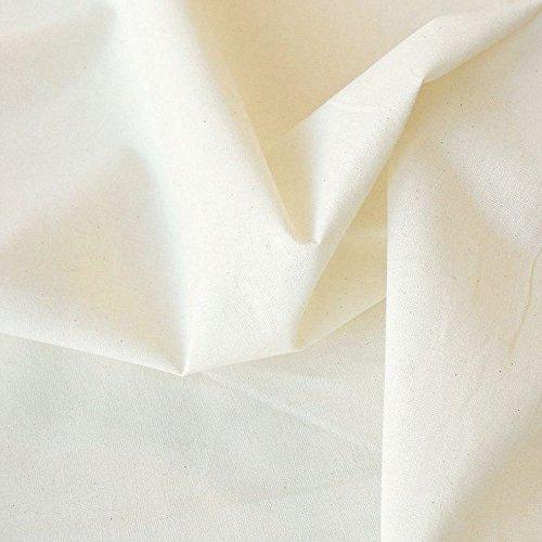 Meterware Nessel ROH-Baumwolle naturfarben als Dekostoff/Bezugsstoff/Modestoff (Breite: 220 cm | leicht) ()