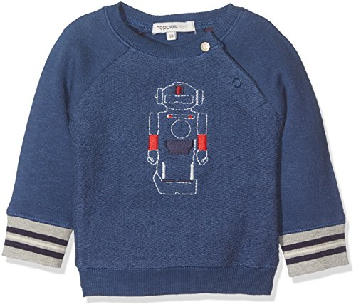 Noppies Baby-Jungen Sweatshirt B Sweater Genua Blau (Medium Blue C145), 80