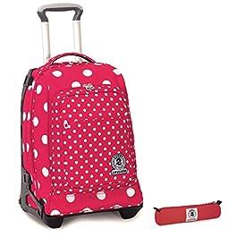 60e7071579 Dettagli e Acquista · Trolley Tech Invicta + Portapenne – Rosa Pois – 2in1  Carrello sganciabile Zaino 34 LT Scuola ...