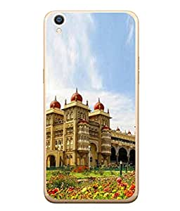 PrintVisa Heritage Building High Gloss Designer Back Case Cover for Oppo F1s