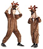 AN74 Gr. 98-104 Elchkostüm, Elch Faschingskostüme, Elchkarnevalskostüm, für Kinder, Jungen, Mädchen, für Fasching Karneval Fasnacht, auch als Geschenk zum Geburtstag oder Weihnachten -