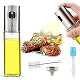 AJOXEL Dispensador de pulverizador de aceite, Oil Sprayer 100 ml Vinagre / Aceite de oliva