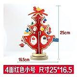 OMFGOD Weihnachten Dekorationen Holz Weihnachtsbaum Zubehör Desktop Mini DIY Ornamente, Rot S