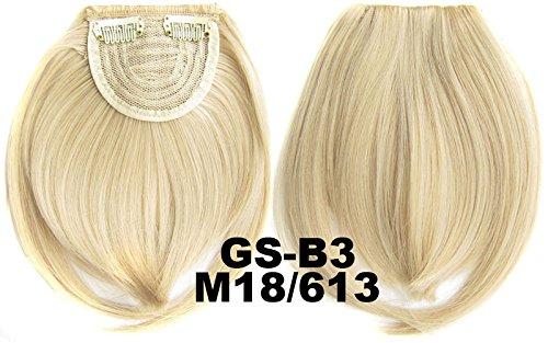 # 18 _ 613 m 100% fibre synthétique haute température Clip dans/sur cheveux avant frange frange cheveux