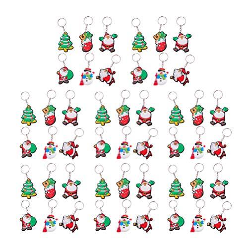 Healifty 48 Piezas llaveros Navidad llaveros Santa