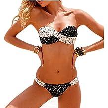 Aidonger Femme bikini 2 Pièces Push-up Rembourré Maillot de bain Triangle S-2XL