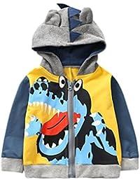 Abrigo para bebé con capucha, Yannerr niños chico pequeño otoño invierno dibujos animados animal encapuchado chaqueta capa ropa outwear