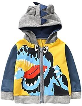 [Patrocinado]Abrigo para bebé con capucha, Yannerr niños chico pequeño otoño invierno dibujos animados animal encapuchado chaqueta...