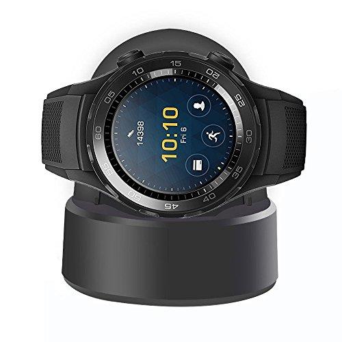 Huawei Watch 2 Cargador, HROOME Reemplazo Charger Base de Carga para Huawei Watch 2, Negro