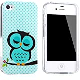 tinxi� Schutzh�lle f�r Apple iPhone 4 / 4S H�lle TPU Silikon R�ckschale Schutz H�lle Silicon Case mit Eule Owl Muster in Hellgr�n