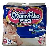 #7: MamyPoko Extra Absorb Diaper Pants - Medium (7-12 Kg), 74 Pieces Pack