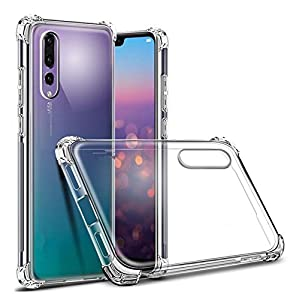 Tarkan Huawei P20 Pro Case - Shock Proof Protective Soft Transparent Back Cover [Bumper Corners with Air Cushion Technology]