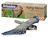 Defenders Flying Falcon Decoy (Stoope Bird-of-Prey Deterrent, apertura alare da 21 pollici (53 cm) per giardini, Scares Foraging Birds from Outdoor Areas, Hanging System for Wall and Tree Mounting)