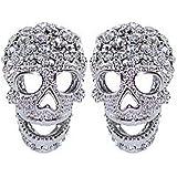 Butler & Wilson Crystal Skull Cufflinks