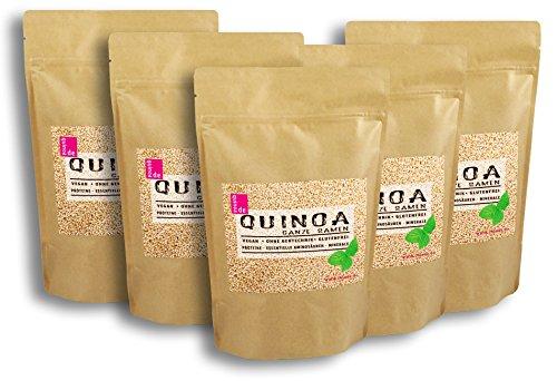 Quinoa Samen weiß 5kg (5 x 1kg) Sparpaket. Von bester Qualität
