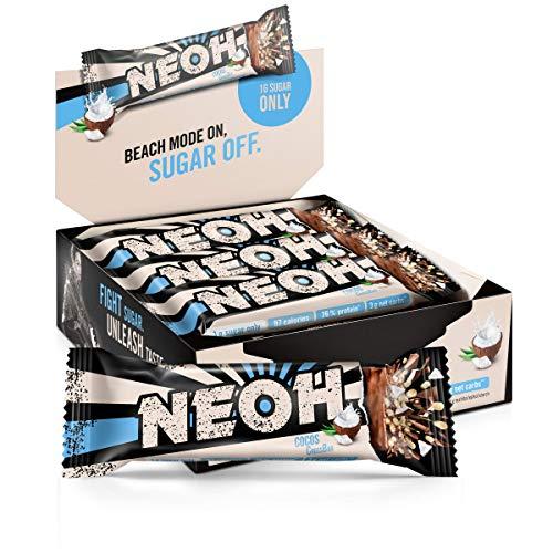 NEOH Lowcarb Protein Riegel Kokos | 1g Zucker / 97 kcal / 26{44ed205f8c7b6fa3b6cbbfce0441b12740043a66b524f4bd6027b37862716cbc} Protein pro Riegel | Ohne Zuckerzusatz | Vorteilsbox 12x30g | Kokosnuss