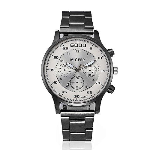 Suitray Uhren Herren,Luxus Männer Armbanduhr Analoge Quarzuhr Freizeit Men Watches Uhr Geschenk,Runde Zifferblattgehäuse Edelstahlband Uhren