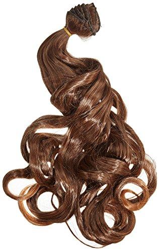BiYa Hair Elements Thermatt Extensions de cheveux à clips Bouclés Dipdye Brun moyen nuance 4T30 50,8 cm 140 g