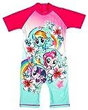 Filles My Little Pony Pinkie Pie Floral tout en un Protège soleil Maillot de bain tailles de 1.5 – 5 Years