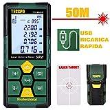 Misuratore Laser 50m, USB 30mins Carica Rapida, TECCPO telemetro laser, Sensore...