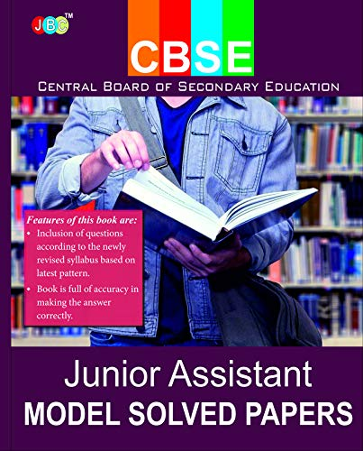 """MODEL SOLVED PAPERS"":- 'JUNIOR ASSISTANT' (Central Board of Secondary Education)."