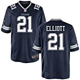 21 Ezekiel Elliott Trikot Dallas Cowboys Jersey American Football Shirt Mens