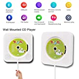 from Hompie Portable CD Player, Hompie Upgraded Wall Mounted 5-IN-1 CD Music Player HiFi Bluetooth Speaker Home Audio Boombox with Remote Control USB Drive AUX in & 3.5mm Headphone Jack with 16G U-Disk