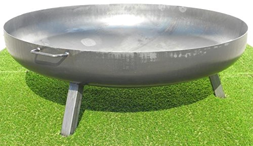 Feuerschale aus Stahl 1250 mm / mit 3 Beinen und 2 Griffen