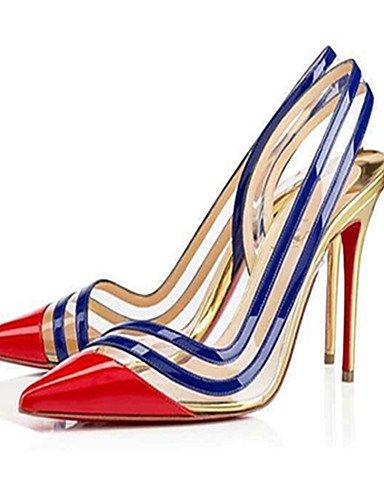 WSS 2016 Chaussures Femme-Habillé / Soirée & Evénement-Rouge / Or-Talon Aiguille-Bout Pointu-Chaussures à Talons-Polyuréthane golden-us8.5 / eu39 / uk6.5 / cn40