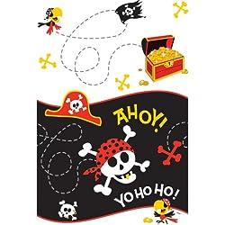 Mantel de hule para fiesta pirata.