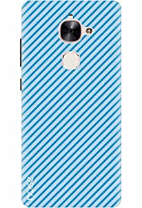 Noise Designer Printed Case / Cover for LeEco Max2 / Aztec / Diagonal Blue Design