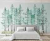 Fototapete Vlies Tapete 3D wallpaper Wanddeko Design Moderne Anpassbare Wandbilder Frisch Modern Einfach Grünen Wald Skandinavischen Tv Hintergrund Wand