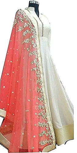 Womens Clothy Women's For Gown Latest Party Wear Designer Georgette Embroidery Semi Stitched Free Size Anarkali Salwar Suit Dress Material  available at amazon for Rs.349