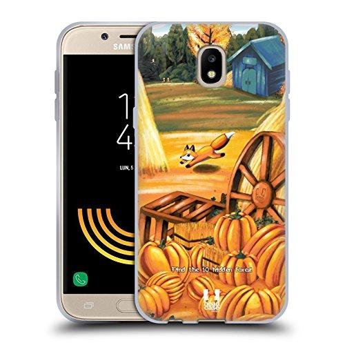 Kürbis Design (Head Case Designs Kürbis Füchse Soft Gel Hülle für Samsung Galaxy J5)