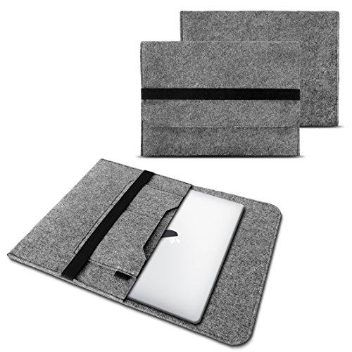 NAUC Laptop Tasche Sleeve Hülle Schutztasche Filz Cover für Tablets und Notebooks Farbauswahl kompatibel mit Samsung Apple ASUS Medion Lenovo, Farben:Hell Grau, Größe:15-15.6 Zoll