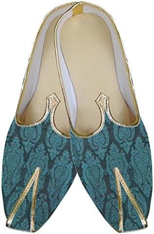 INMONARCH Cerceta Hombres Diseñador Zapatos Brocado MJ0083