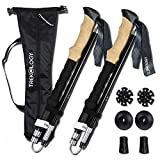 Trekology TREK-Z Collapsible Tri-fold Trekking Pole/Hiking Poles - Adjustable Lightweight Aluminum Walking Sticks