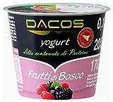 Yogurt proteico Dacos Frutti di bosco - 8 vasetti 200 gr - cremoso magro - Spedizione 24 ore