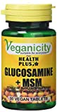 Veganicity Glucosamine Plus MSM Joint Health Supplement 30 Tablets by Health + Plus Ltd