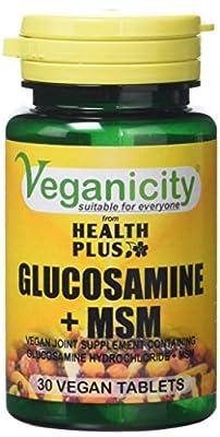 Veganicity Glucosamine Plus MSM Joint Health Supplement 30 Tablets by Health + Plus Ltd